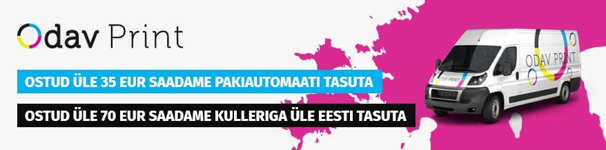 Ostud e-poes min. 35 EUR saadame üle Eesti tasuta!